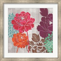 Framed Peony Patterns I