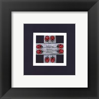 Framed Ladybug Square Dance