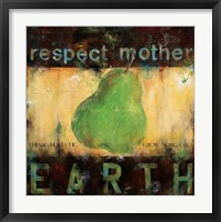 Framed Respect Mother Earth