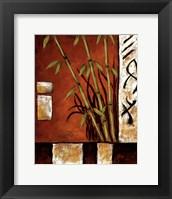 Framed Russet Silhouette I