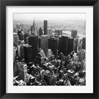 Framed Manhattan and the Hudson