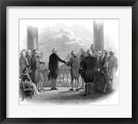 Framed 1789 Inauguration Of George Washington As First President Of The USA