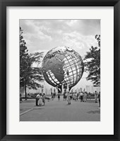 Framed 1964 New York World's Fair Unisphere Flushing Meadows NY