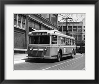 Framed Vehicle Operates As Trackless Trolley Electric Bus Or Gasoline Bus Public Transportation Elizabeth NJ