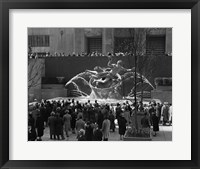 Framed Group Of People At Rockefeller Center New York City