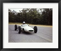 Framed Man Reace Car Driver Driving Lotus Ford Sports Car