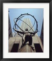 Framed Atlas Statue Rockefeller Center, NYC
