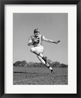Framed Football Player Running With Ball