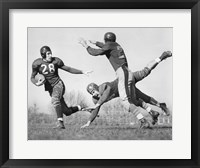 Framed Three Men Playing Football