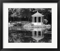 Framed Gazebo Reflected In Pond Seaville NJ