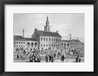 Framed Engraving Of Independence Hall In Philadelphia 1776