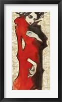 Framed Feminine Red