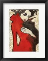 Framed Feminine Red (detail)