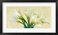 Framed White Callas in a Glass Vase (detail)