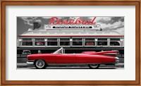 Framed Vintage Beauty and Diner (Red)