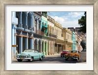 Framed Avenida in Havana, Cuba