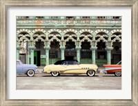 Framed Cars parked in Havana, Cuba