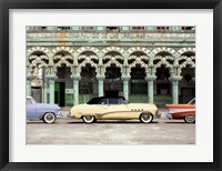 Framed Cars parked in Havana, Cuba
