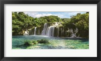 Framed Waterfall in Krka National Park, Croatia