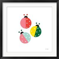 Framed Ladybugs Three