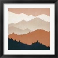 Framed Mountain View Terra Cotta