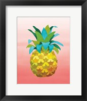 Framed Island Time Pineapples VI Coral