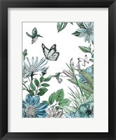 Framed Butterflies and Flowers IV