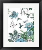 Framed Butterflies and Flowers III