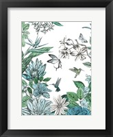 Framed Butterflies and Flowers II