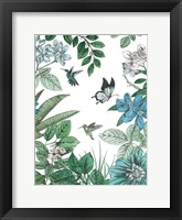 Framed Butterflies and Flowers I