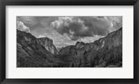 Framed Scenic Landscape III BW