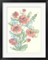 Framed Camellia Bouquet II