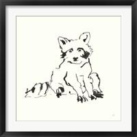 Framed Line Raccoon
