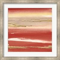 Framed Gilded Red III