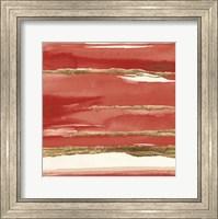 Framed Gilded Red II
