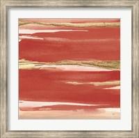 Framed Gilded Red I
