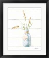 Framed Beach Flowers III Neutral
