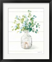 Framed Beach Flowers IV Vase