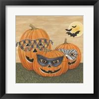 Framed Funny Pumpkins