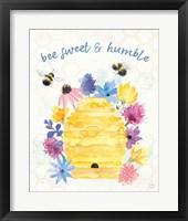 Framed Bee Harmony IV