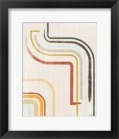 Framed Lingering Lines I