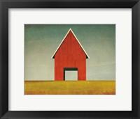 Framed Red Barn Summer