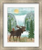 Framed Woodland Forest IV