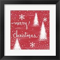 Framed Merry Christmas Trees