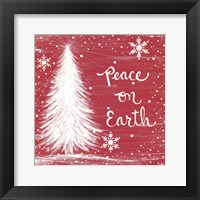 Framed Peace on Earth Trees