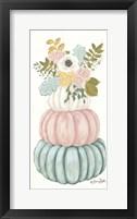 Framed Floral Pumpkins