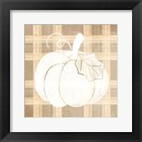 Framed Plaid Pumpkin II