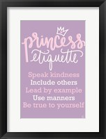 Framed Princess Etiquette