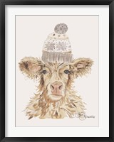 Framed Cozy Cow