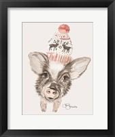 Framed Cozy Pig